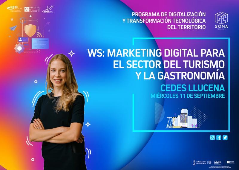 Invitación Taller: Marketing digital para el sector del turismo y la gastronomía.Llucena