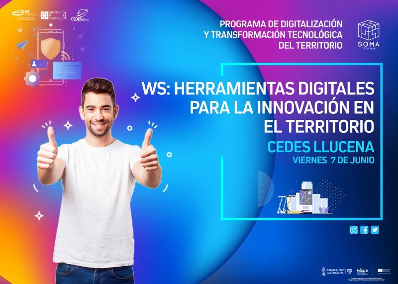 Invitación WS: Herramientas digitales para la innovación en el territorio.Llucena