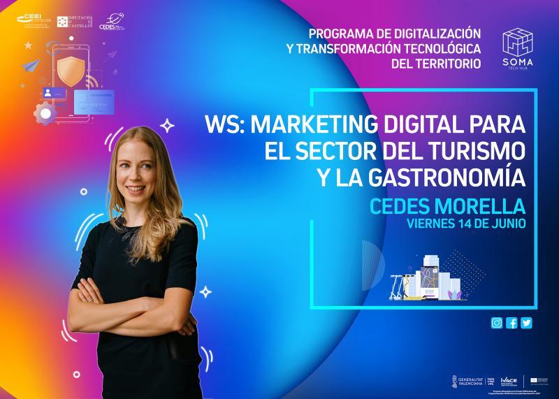 Recordatorio Invitación WS: Marketing digital para el sector del turismo y la gastronomía.