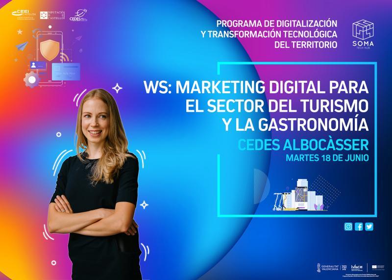 Invitación WS: Marketing digital para el sector del turismo y la gastronomía.