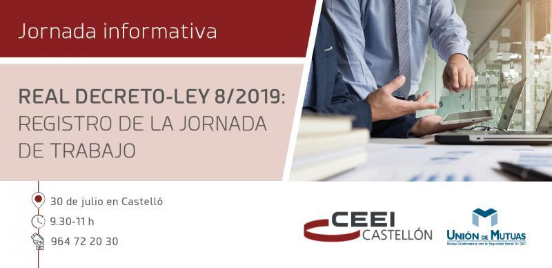 Invitación:Jornada Informativa: REAL DECRETO-LEY 8/2019: REGISTRO DE LA JORNADA DE TRABAJO