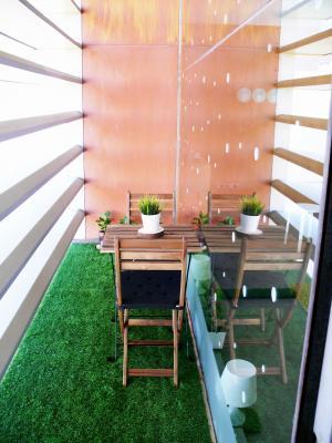 área descanso outdoor Coworking CEEI Castellón