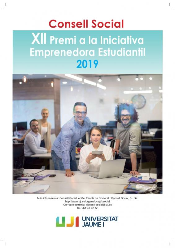 XII Premio del Consejo Social de la Universidad Jaume I a la Iniciativa Emprendedora Estudiantil