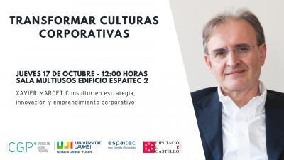 Conferencia: Transformar culturas corporativas