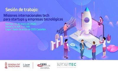 Sesión de trabajo: Misiones internacionales tech para startups y empresas tecnológicas