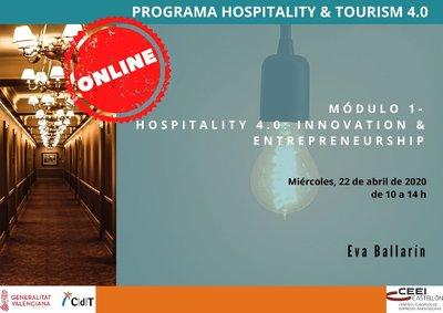 Programa 2ª sesión CdT- Hospitality 4.0: Innovation & Entrepreneurship