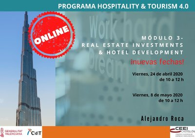 Programa 3er módulo CdT: Real Estate Investments & Hotel Development