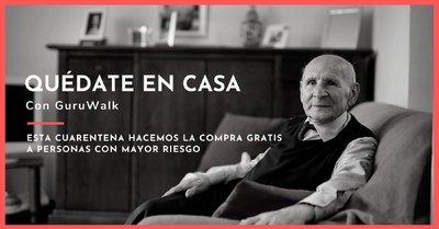 GuruWalk se ofrece a hacer la compra gratis a ancianos y enfermos de toda España