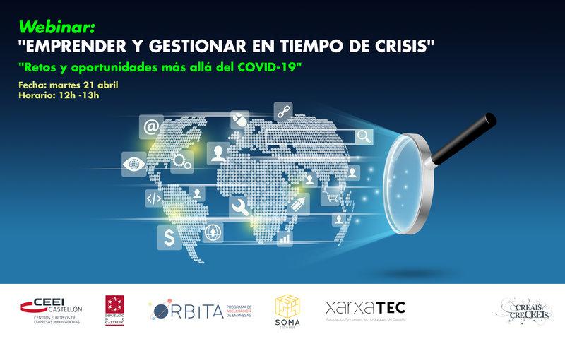 Invitación Webinar: Emprender y gestionar en tiempo de crisis: