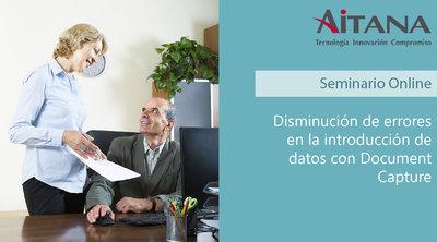 Disminución de errores en la introducción de datos con Document Capture