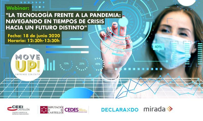 """Recordatorio Invitación Webinar: """"La tecnología frente a la pandemia"""""""