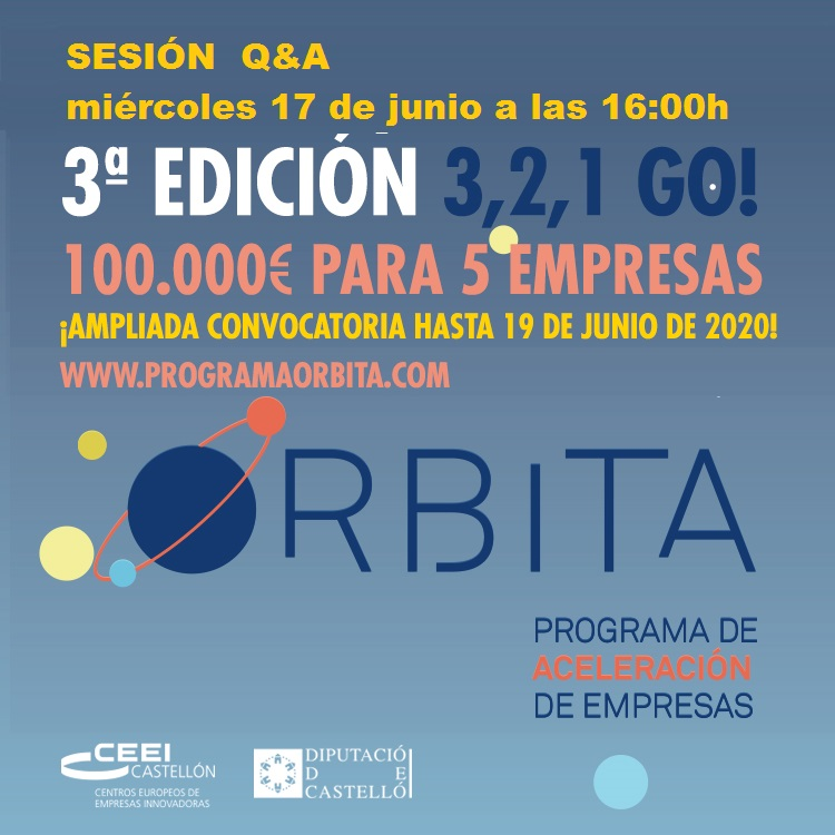 Recordatorio Invitación Sesión informativa: Q&A Programa de aceleración Órbita. Last call!