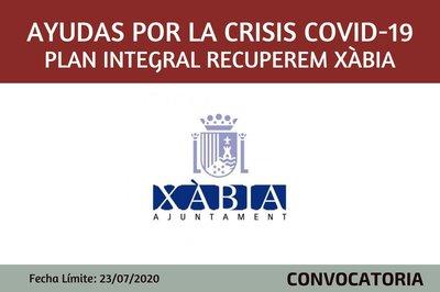 Ayudas por la CRISIS  COVID 19 .Plan integral Recuperem Xàbia