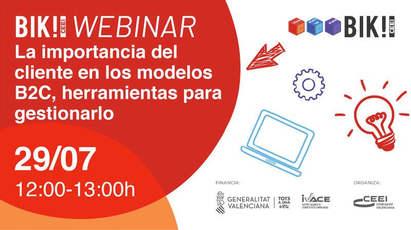 """Recordatorio Invitación 2º BIk Webinar:""""La importancia del cliente en los modelos B2C"""""""