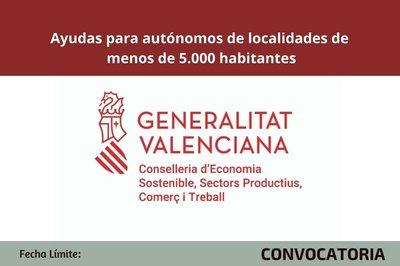Ayudas para autónomos despoblamiento cv 2020