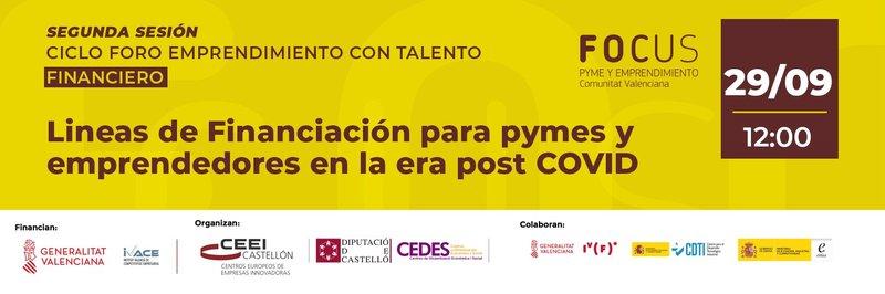 Invitación Foro: Líneas de Financiación para pymes y emprendedores en la era post COVID