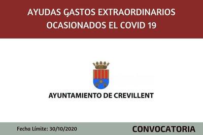 Ayudas para gastos extraordinarios ocasionados por el Covid 19