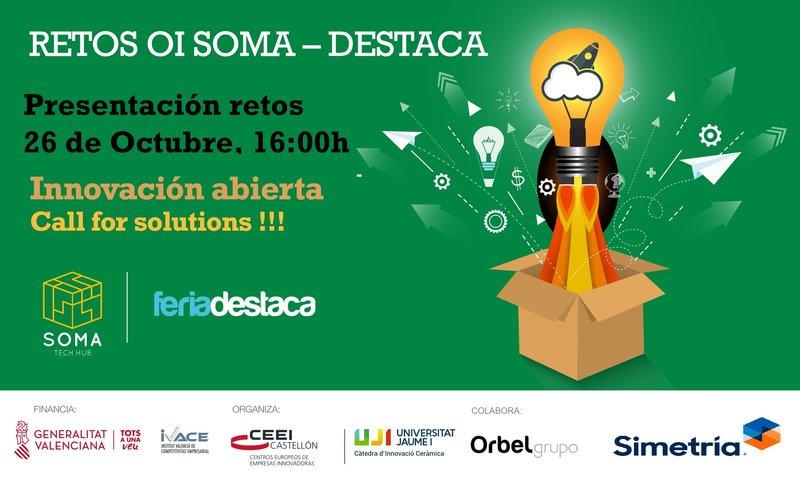 Recordatorio Invitación Presentación Retos OI SOMA-DESTACA Q&A, hoy!!