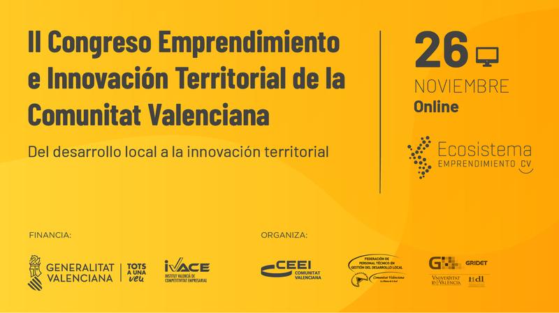 II Congreso Emprendimiento e Innovación Territorial de la Comunitat Valenciana