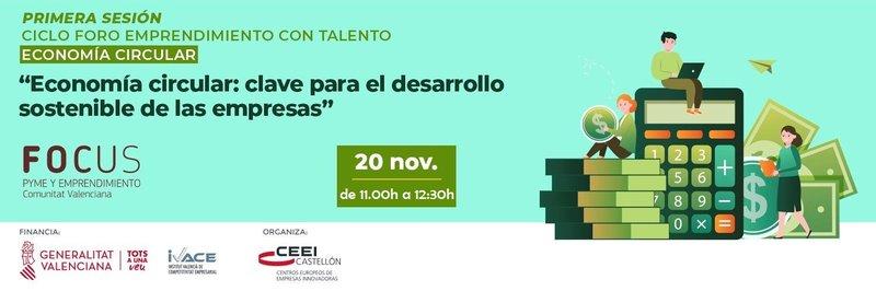 Invitación FOCUS - Ciclo economía circular. 20 y 27 de noviembre