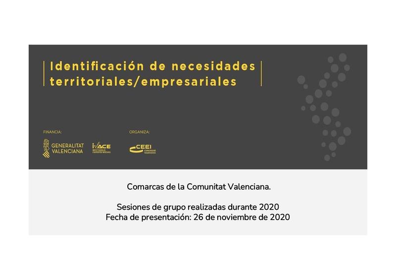 Identificación de necesidades territoriales y empresariales