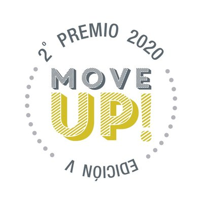 Sello ganador 2º premio MOVE UP! 2020