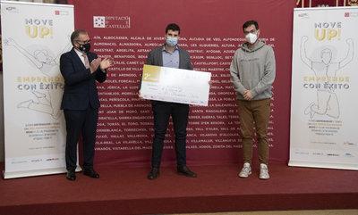 Entrega premios, Jose Pascual Martí (Diputación), Raúl Verdú (Movelso) y Juanjo Traver (Declarando)