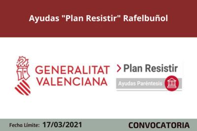 """Ayudas """"Plan Resistir"""" en Rafelbuñol"""