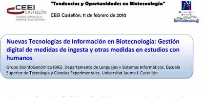 Tendencias y oportunidades en la Biotecnología (Presentación)