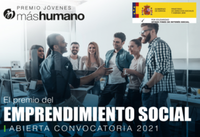 Premio de emprendimiento social Jóvenes máshumano 2021 para emprendedores sociales