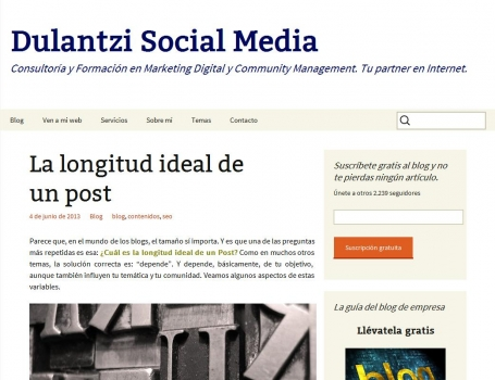 "La longitud ideal de un post. ""El tamaño importa"" 